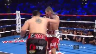 Брэндон Риос против Майк Альварадо (Brandon Rios vs Mike Alvarado 2) Хук – hook