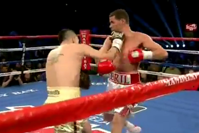 Брэндон Риос против Ричард Абриль (Brandon Rios vs Richard Abril) Хук – hook