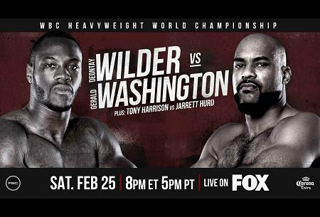 Бой Дионтэй Уайлдер против Джеральд Вашингтон - Deontay Wilder vs Gerald Washington