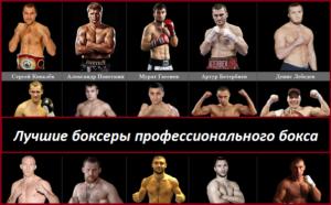 Лучшие боксеры профессионального бокса