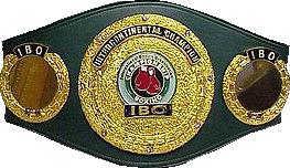Чемпионский пояс - IBO Inter-Continental