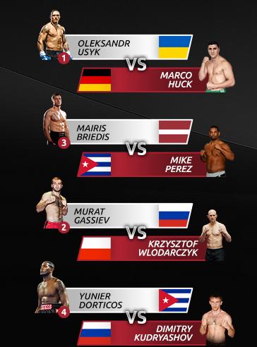 Пары тяжеловесов четвертьфинала всемирной боксерской суперсерии