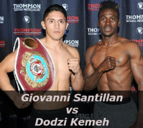 View a video of the fight Giovanni Santillan vs Dodzi Kemeh
