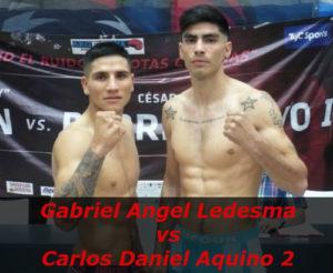 Бой Габриэль Ангел Ледесма против Карлос Даниэль Акино 2