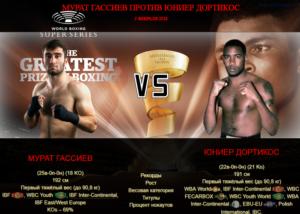 Афиша - бой Мурат Гассиев против Юниер Дортикос