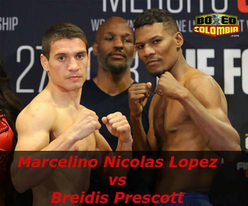 Бой Марселино Николас Лопес против Брейдис Прескотт