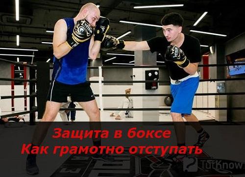 Защита в боксе - как правильно отступать или отступление как защита