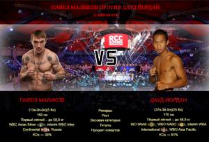 Афиша - бой Павел Маликов против Дауд Йордан
