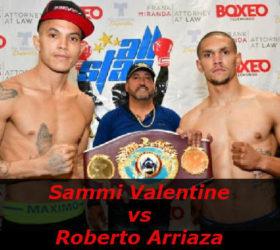 Видео поединка Сэмми Валентин — Роберто Арриаза — Sammi Valentine vs Roberto Arriaza