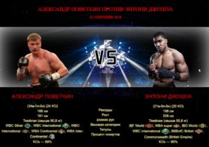 Александр Поветкин против Энтони Джошуа - Alexander Povetkin vs Anthony Joshua - boxinggu.ru