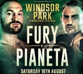 Видео поединка Тайсон Фьюри — Франческо Пианета — Tyson Fury vs Francesco Pianeta