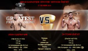 Афиша — бой Иван Баранчик против Энтони Йигит