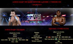 Бой Александр Гвоздик против Адонис Стивенсон