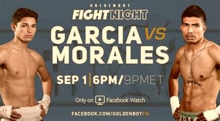 Бой Райан Гарсиа против Карлос Моралес - Ryan Garcia vs Carlos Morales