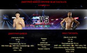 Афиша — бой Дмитрий Бивол против Жан Паскаль | Dmitry Bivol vs Jean Pascal