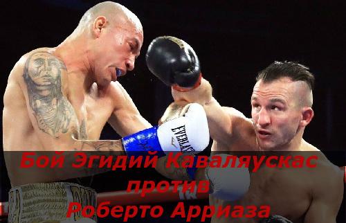 Бой Эгидий Каваляускас против Роберто Арриаза