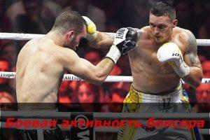 Боевая активность боксера
