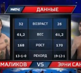Бой Павел Маликов против Эрни Санчес