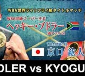Видео боя Хекки Будлер — Хирото Кёгучи — Hekkie Budler vs Hiroto Kyoguchi