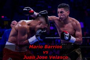 Бой Марио Барриос - Хуан Хосе Веласко