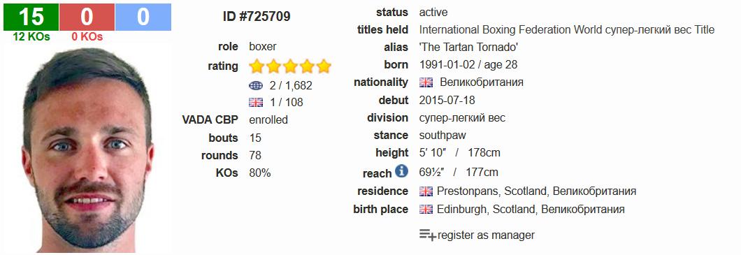 Josh Taylor boxrec