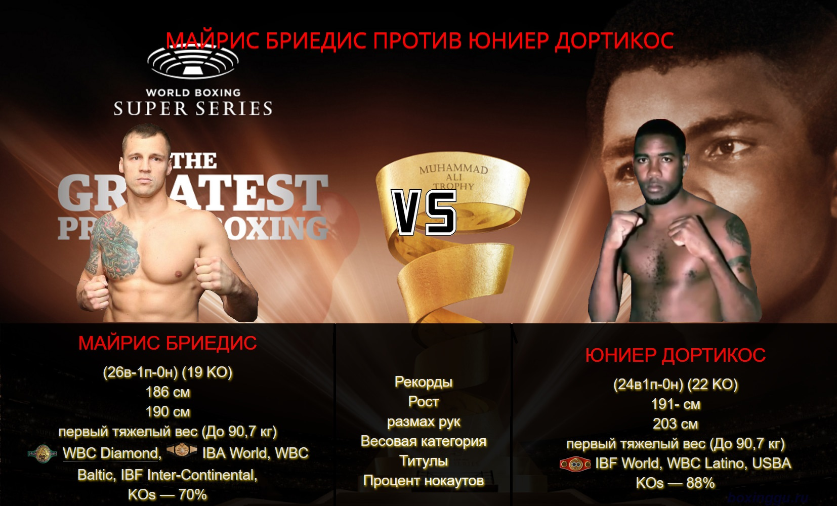 Майрис Бриедис - Юниер Дортикос / Yuniel Dorticos vs Mairis Briedis