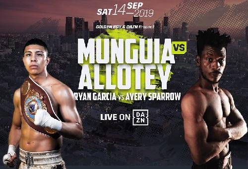 Бой Хайме Мунгуя - Патрик Аллотей - Jaime Munguia vs Patrick Allotey