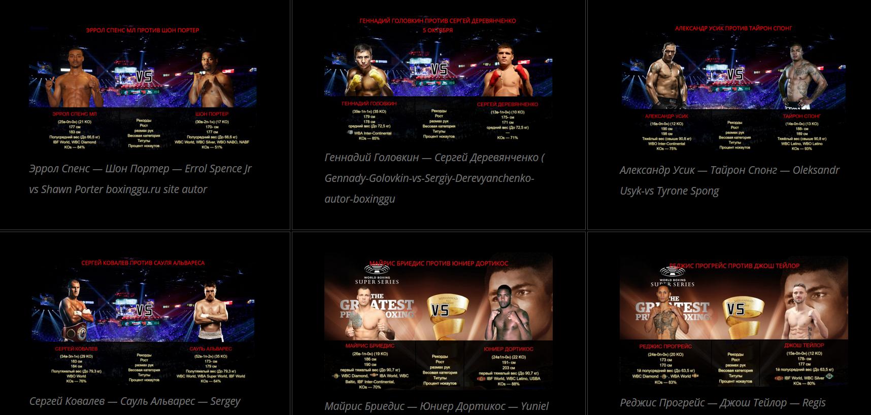 Топ боксерских поединков в уходящем 2019 году