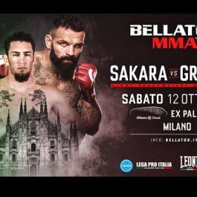 Видео боя Алессио Сакара — Канаан Григсби / Bellator Milan