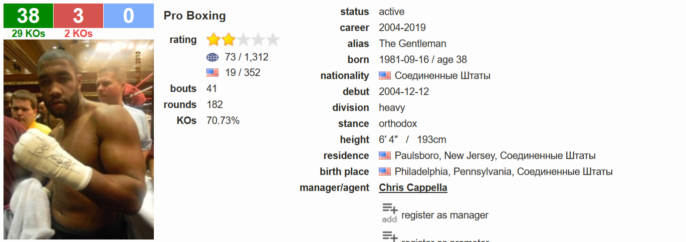 Chazz Witherspoon BoxRec