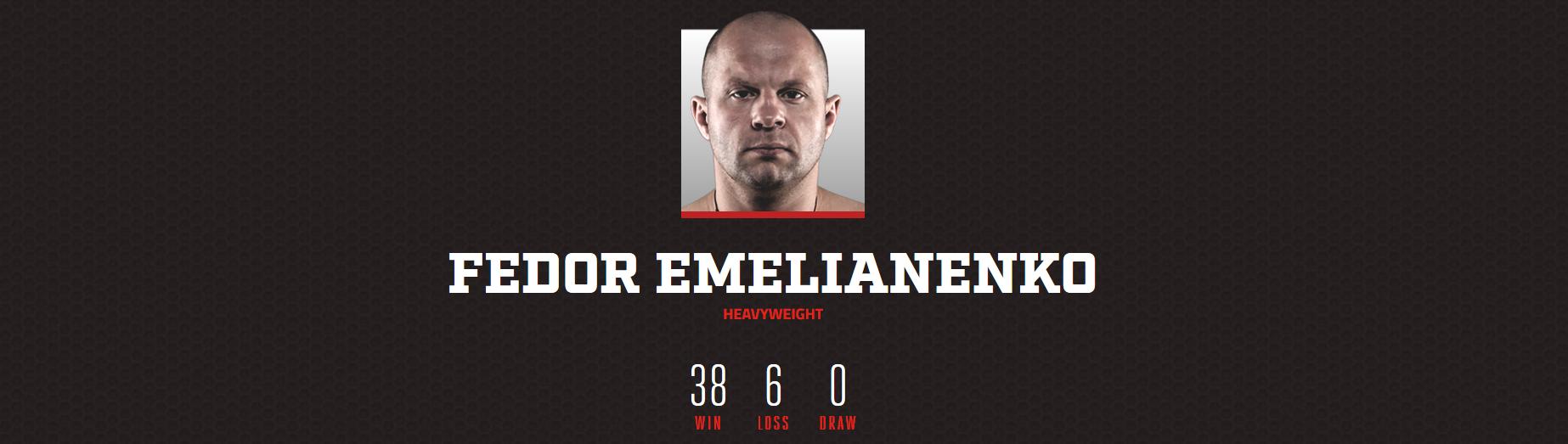 Fedor Emelianenko MMA Rec