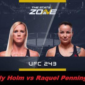 Видео боя Холли Холм — Ракэль Пеннингтон / UFC 243