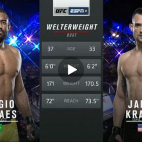 Видео боя Серхио Мораес — Джеймс Крауз / UFC Fight Night 164
