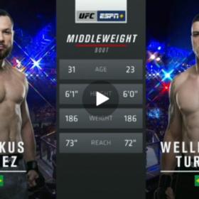 Видео боя Маркус Перес — Веллингтон Турман / UFC Fight Night 164