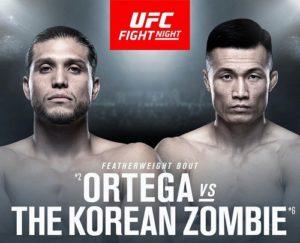 UFC on ESPN+ 23 (UFC FIGHT NIGHT 165) - Ortega vs. Korean Zombie
