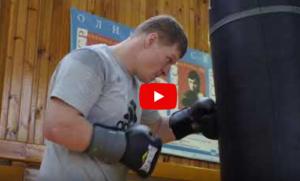 Александр Поветкин - тренировка перед боем с Хантером (Видео)