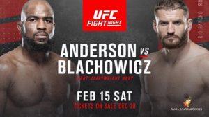 UFC Fight Night 167 Anderson vs Blachowicz