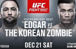 UFC on ESPN+ 23 (UFC FIGHT NIGHT 165) - Frankie Edgar vs. Korean Zombie