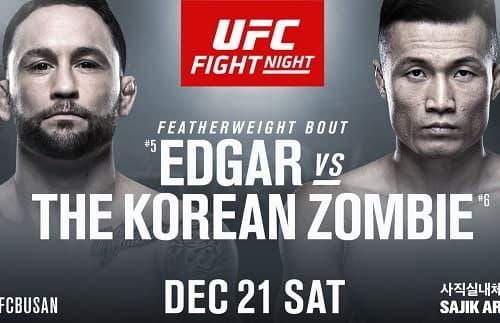 Видео боя Фрэнки Эдгар - Чан Сун Чжун / UFC Fight night 165