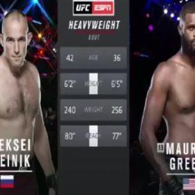 Видео боя Алексей Олейник — Морис Грин / UFC 246