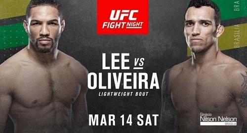 Видео боя Кевин Ли - Чарльз Оливейра / UFC Fight Night 170