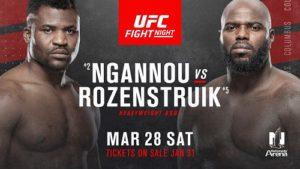UFC Fight Night 172 on ESPN 8 Ngannou vs Jairzino
