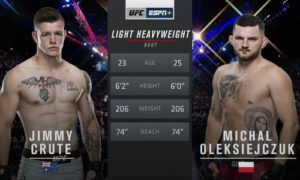 Видео боя Джим Крут - Михал Олексийчук / UFC Fight Night 168