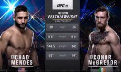 Видео боя Конор Макгрегор — Чед Мендес / UFC 189