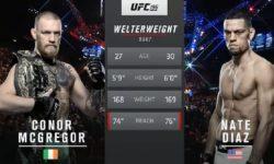Видео боя Конор Макгрегор — Нейт Диас 2 / UFC 202