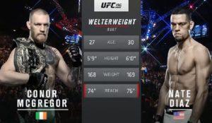 Видео боя Конор Макгрегор - Нейт Диас 2 / UFC 202
