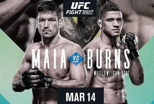 Видео боя Дэмиан Майя - Гилберт Бернс / UFC Fight Night 170