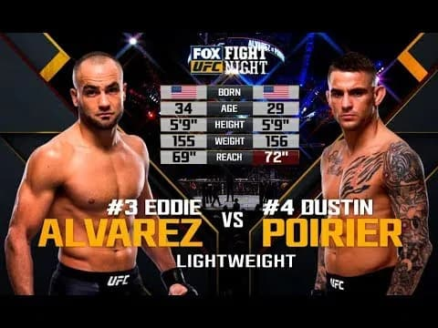 Видео боя Дастин Пуарье - Эдди Альварес / UFC on Fox