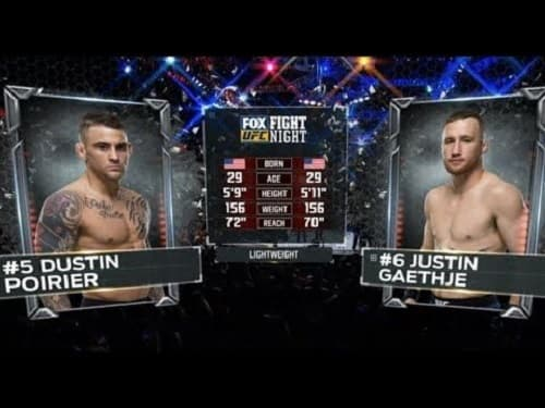 Видео боя Дастин Пуарье - Джастин Гейджи / UFC 242