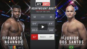 Видео боя Фрэнсис Нганну - Дос Сантос / UFC 239